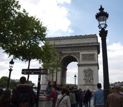SchoolreisParijs Arc de Triomphe
