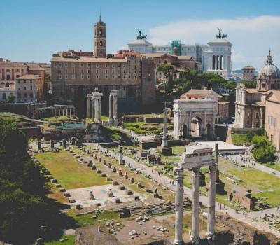 Schoolexcursie Rome Forum Romanum